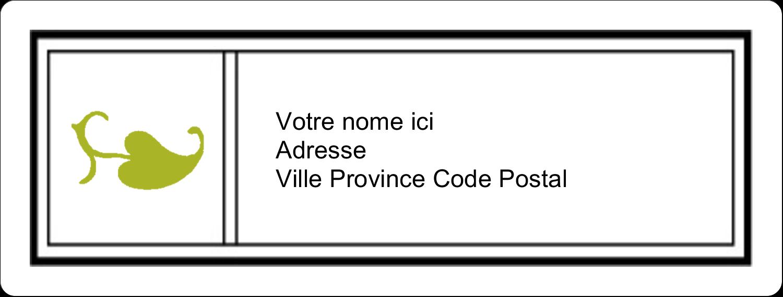 """1"""" x 4"""" Étiquettes d'adresse - Modernité"""