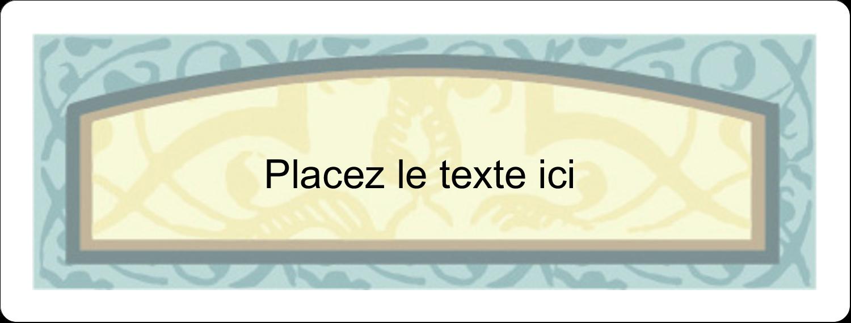 """2⅝"""" x 1"""" Étiquettes Voyantes - Vert d'antan"""