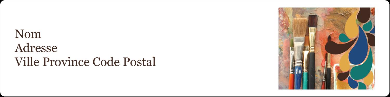 """1⅓"""" x 4"""" Étiquettes d'adresse - Pinceaux modernes en tons naturels"""