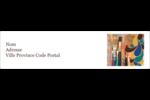 Pinceaux modernes en tons naturels Étiquettes d'adresse - gabarit prédéfini. <br/>Utilisez notre logiciel Avery Design & Print Online pour personnaliser facilement la conception.