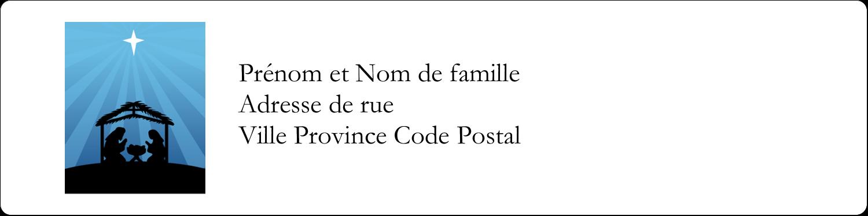 """1⅓"""" x 4"""" Étiquettes d'adresse - Berceau de Noël"""