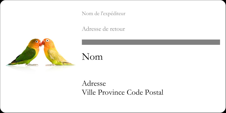 """3-7/16"""" x ⅔"""" Étiquettes de classement écologiques - Oiseaux en nature"""
