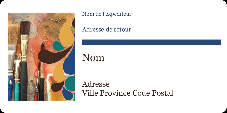 """3-7/16"""" x ⅔"""" Étiquettes de classement écologiques - Pinceaux modernes en tons naturels"""