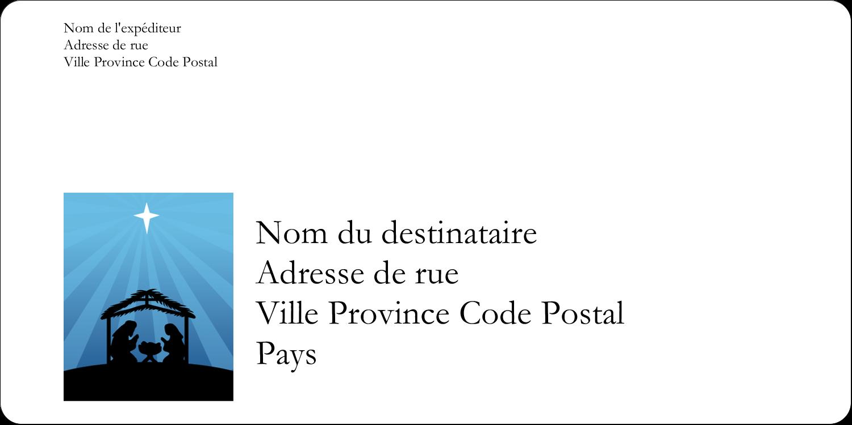 """3-7/16"""" x ⅔"""" Étiquettes de classement écologiques - Berceau de Noël"""