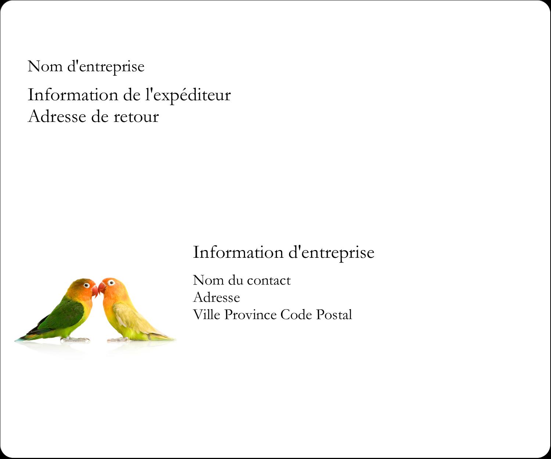 """½"""" x 1¾"""" Étiquettes D'Adresse - Oiseaux en nature"""