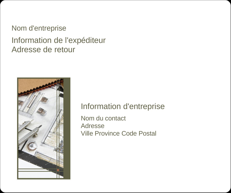 """3⅓"""" x 4"""" Étiquettes d'expédition - Arche 1"""