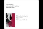 Art noir et rouge  Étiquettes D'Adresse - gabarit prédéfini. <br/>Utilisez notre logiciel Avery Design & Print Online pour personnaliser facilement la conception.