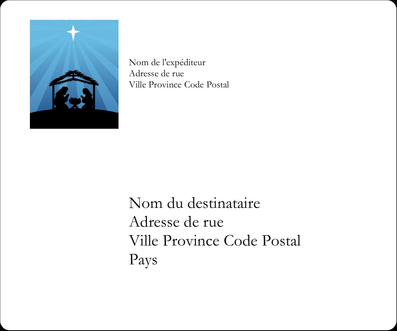 """½"""" x 1¾"""" Étiquettes D'Adresse - Berceau de Noël"""