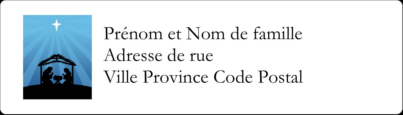 """1"""" x 2⅝"""" Étiquettes d'adresse - Berceau de Noël"""
