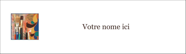 """3½"""" x 11"""" Affichette - Pinceaux modernes en tons naturels"""