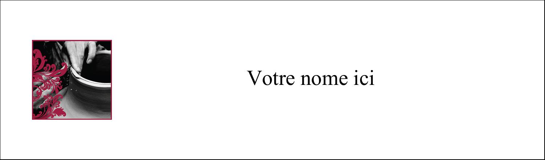 """3½"""" x 11"""" Affichette - Art noir et rouge"""