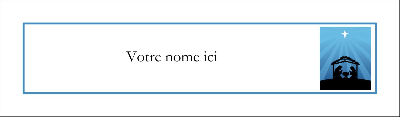 "3½"" x 11"" Affichette - Berceau de Noël"