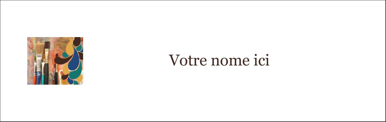 """4¼"""" x 5½"""" Cartes de notes - Pinceaux modernes en tons naturels"""