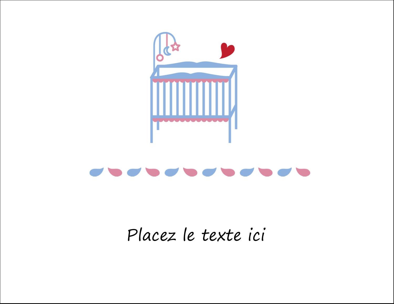 """8½"""" x 11"""" Cartes Et Articles D'Artisanat Imprimables - Lit de bébé"""