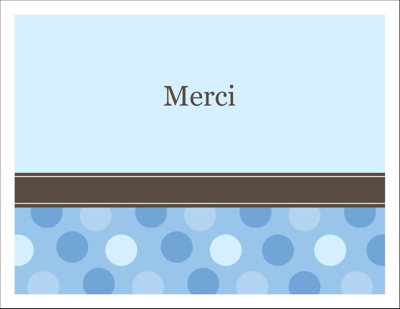 """4¼"""" x 5½"""" Cartes de notes - Bébé garçon à petits pois"""