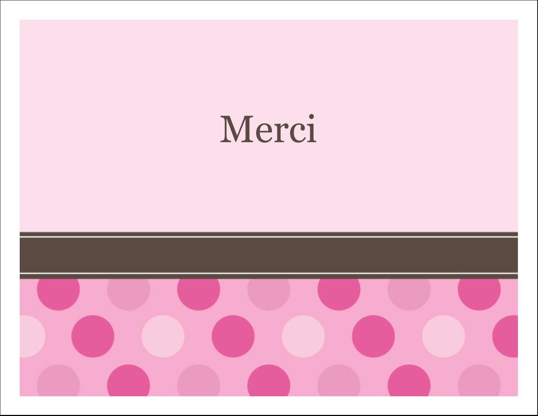 """4¼"""" x 5½"""" Cartes de notes - Bébé fille à petits pois"""