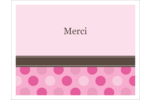 Bébé fille à petits pois Cartes de notes - gabarit prédéfini. <br/>Utilisez notre logiciel Avery Design & Print Online pour personnaliser facilement la conception.