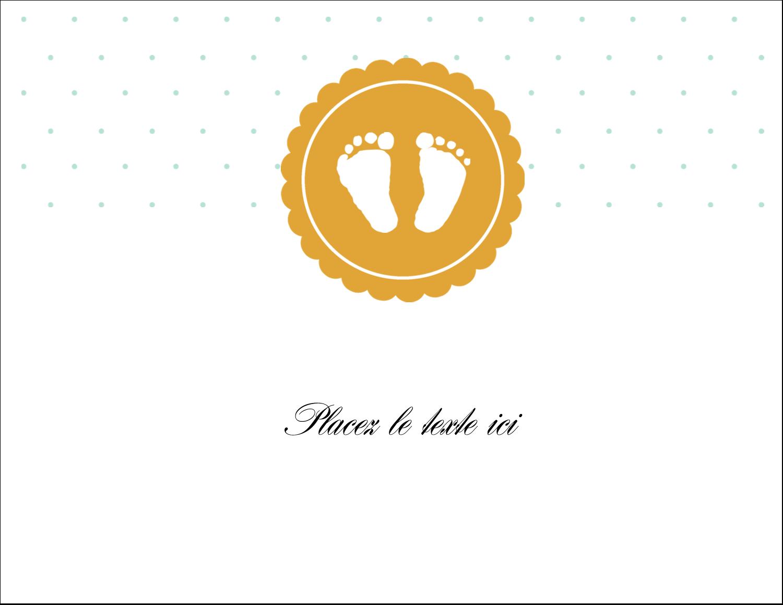 """8½"""" x 11"""" Cartes Et Articles D'Artisanat Imprimables - Empreintes de bébé"""