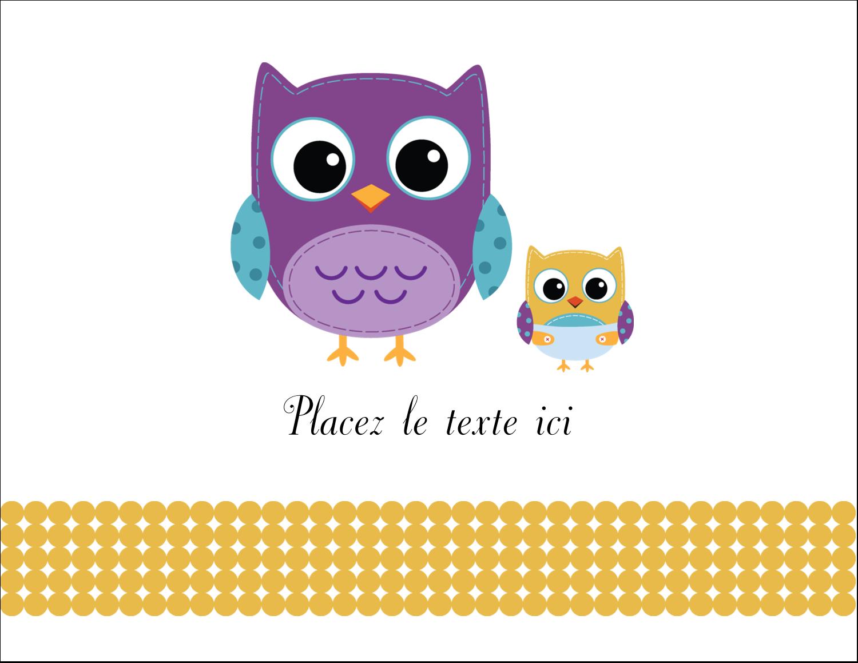 """8½"""" x 11"""" Cartes Et Articles D'Artisanat Imprimables - Bébé hibou"""