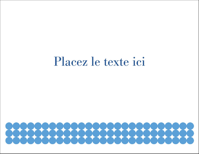 """8½"""" x 11"""" Cartes Et Articles D'Artisanat Imprimables - Cercles bleus"""