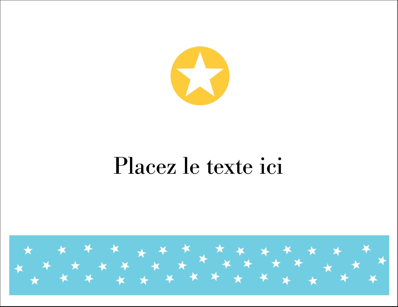 """4¼"""" x 5½"""" Cartes de notes - Étoiles avec tons bleus et jaunes"""