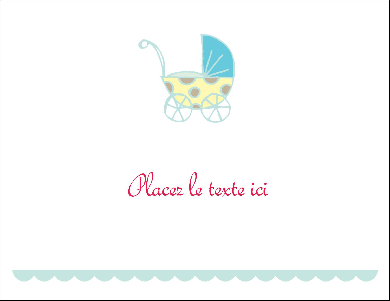"""8½"""" x 11"""" Cartes Et Articles D'Artisanat Imprimables - Poussette pour bébé avec tons bleus"""