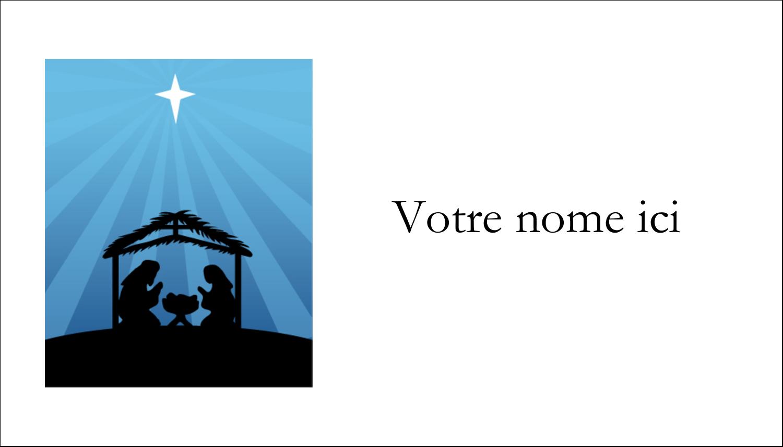 "2"" x 3½"" Carte d'affaire - Berceau de Noël"