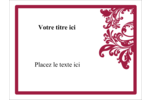 Art noir et rouge  Badges - gabarit prédéfini. <br/>Utilisez notre logiciel Avery Design & Print Online pour personnaliser facilement la conception.