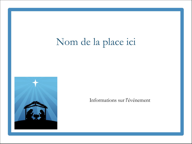 "3"" x 4"" Badges - Berceau de Noël"