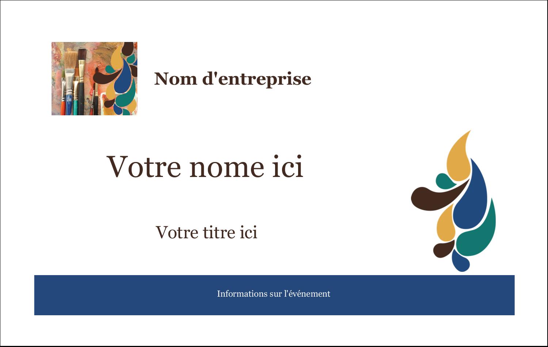 """3"""" x 4"""" Étiquettes badges autocollants - Pinceaux modernes en tons naturels"""