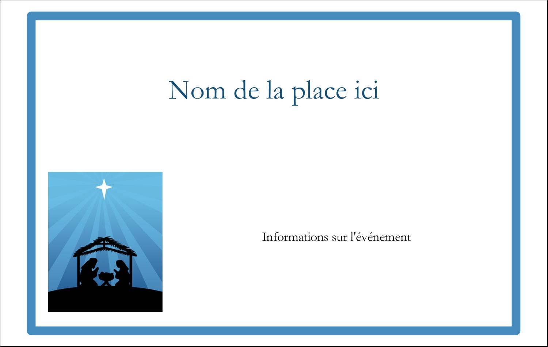 """3"""" x 4"""" Étiquettes badges autocollants - Berceau de Noël"""