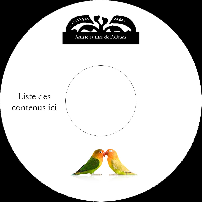 """⅔"""" x 3-7/16"""" Étiquettes de classement - Oiseaux en nature"""