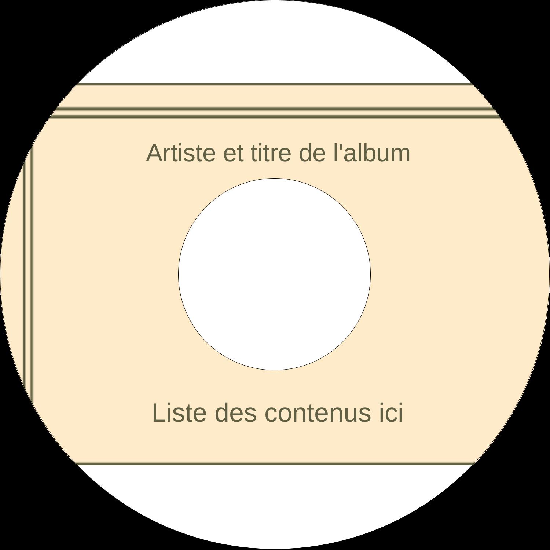 CD/DVD Étiquettes Pour Médias - Arche 1