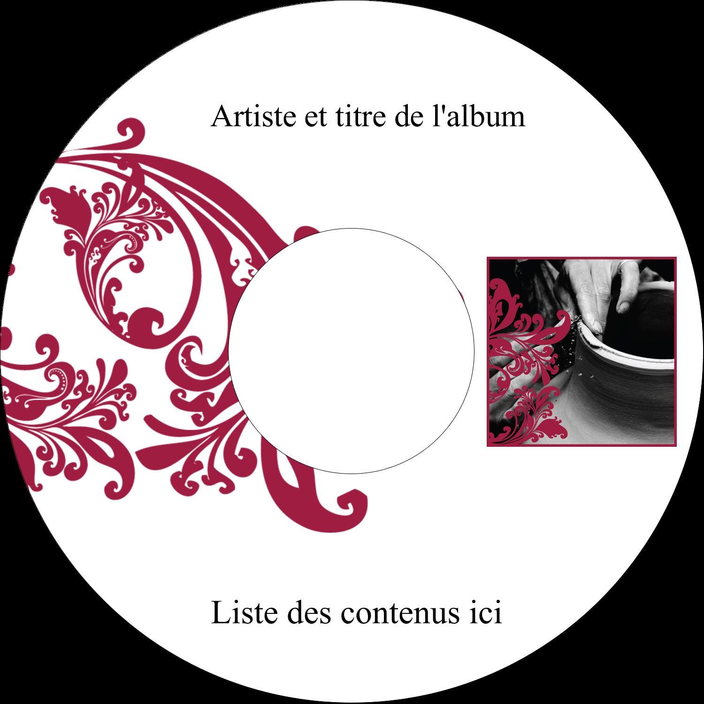 """⅔"""" x 3-7/16"""" Étiquettes de classement - Art noir et rouge"""