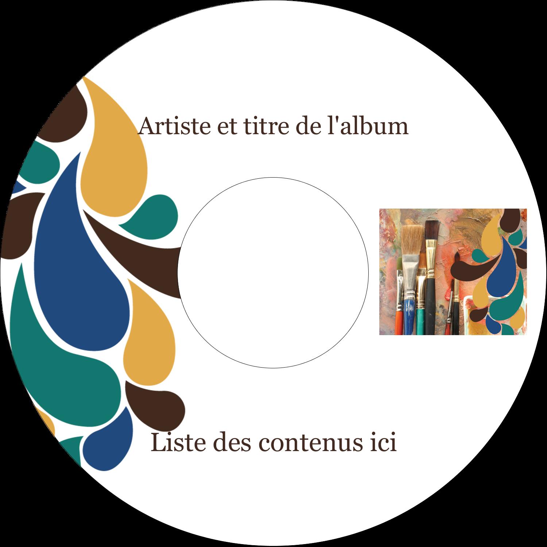 """⅔"""" x 3-7/16"""" Étiquettes de classement - Pinceaux modernes en tons naturels"""