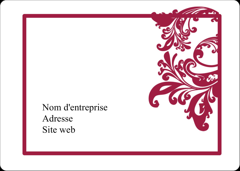 """2⅝"""" x 2"""" Étiquettes D'Identification - Art noir et rouge"""