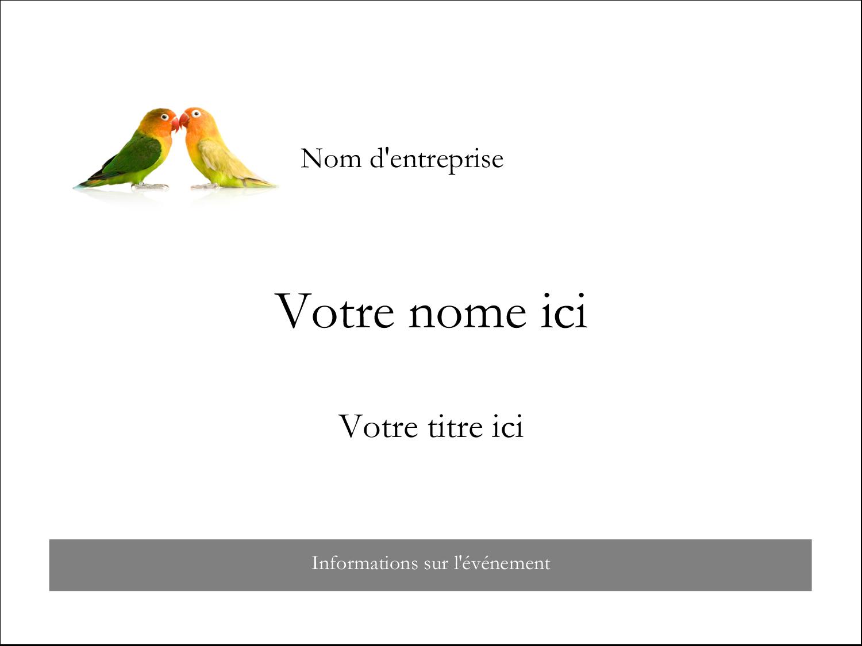"""2¼"""" x 3½"""" Badges - Oiseaux en nature"""