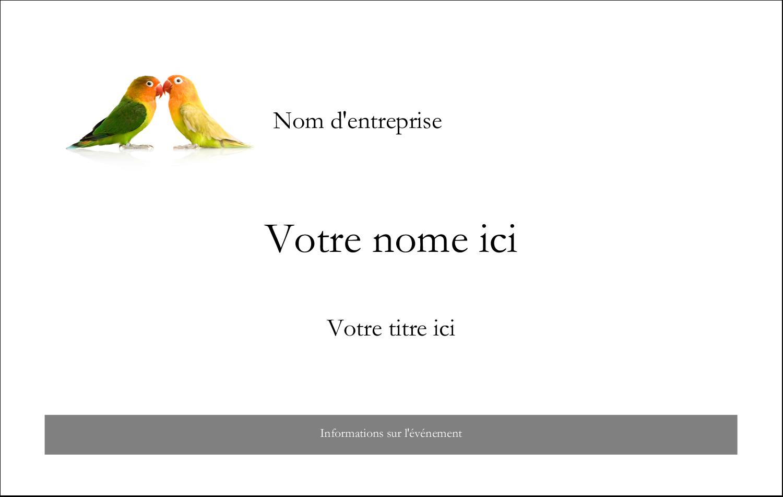 """4"""" x 3"""" Badges - Oiseaux en nature"""