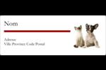 Adorables animaux de compagnie Étiquettes D'Adresse - gabarit prédéfini. <br/>Utilisez notre logiciel Avery Design & Print Online pour personnaliser facilement la conception.