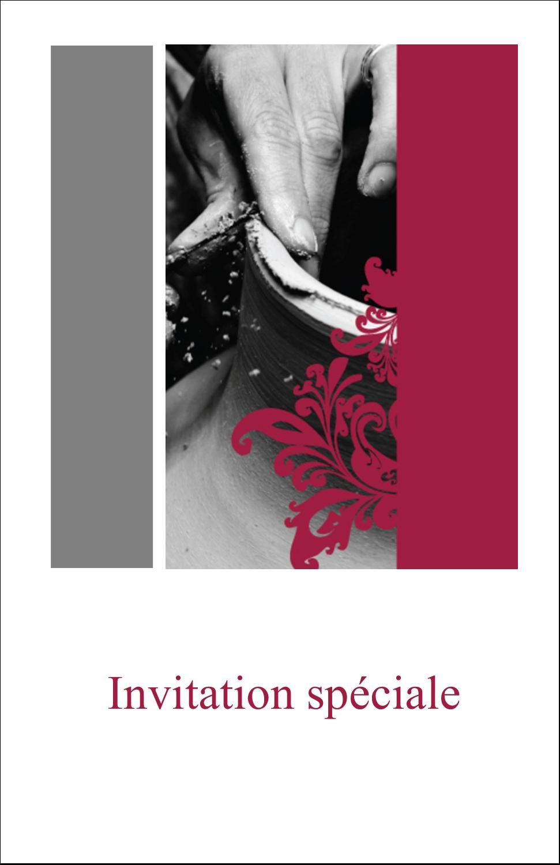 """8½"""" x 11"""" Binder Insert Reliures - Art noir et rouge"""