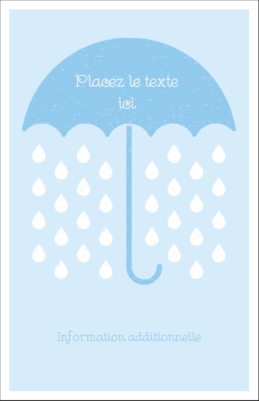 """8½"""" x 11"""" Binder Insert Reliures - Parapluie pour bébé"""