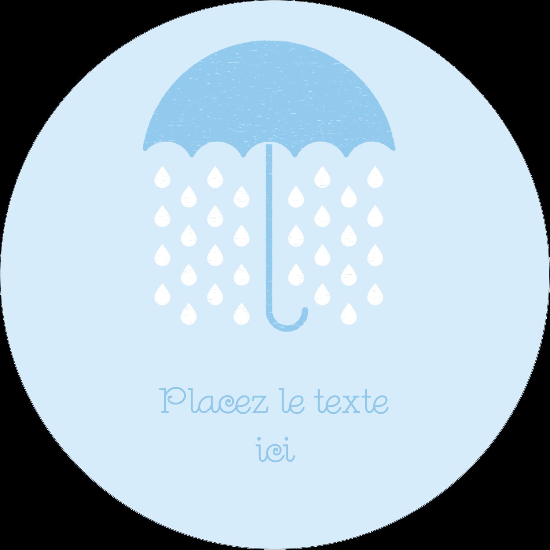 """2¼"""" x ¾"""" Étiquettes Voyantes - Parapluie pour bébé"""