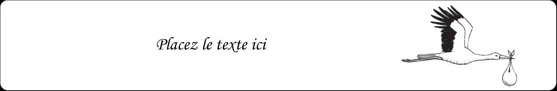 """4"""" x 6"""" Étiquettes Thermiques - Cigogne et bébé d'antan"""