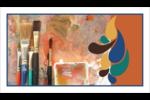Pinceaux modernes en tons naturels Cartes Pour Le Bureau - gabarit prédéfini. <br/>Utilisez notre logiciel Avery Design & Print Online pour personnaliser facilement la conception.