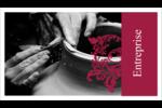 Art noir et rouge  Cartes Pour Le Bureau - gabarit prédéfini. <br/>Utilisez notre logiciel Avery Design & Print Online pour personnaliser facilement la conception.