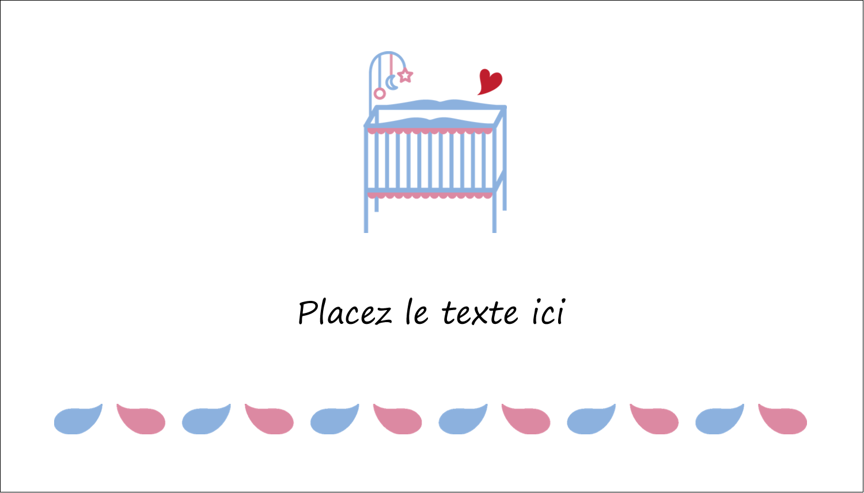 """3"""" x 5"""" Cartes Pour Le Bureau - Lit de bébé"""