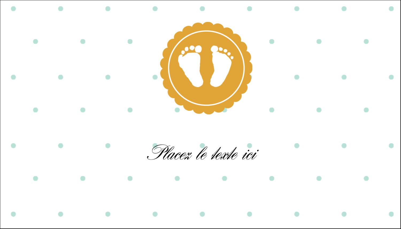 """3"""" x 5"""" Cartes Pour Le Bureau - Empreintes de bébé"""