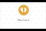 Empreintes de bébé Cartes Pour Le Bureau - gabarit prédéfini. <br/>Utilisez notre logiciel Avery Design & Print Online pour personnaliser facilement la conception.