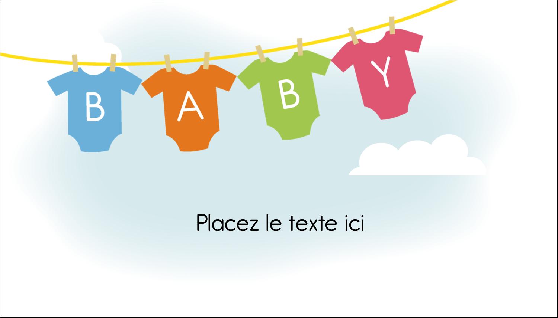 """3"""" x 5"""" Cartes Pour Le Bureau - Combinaisons pour bébé"""