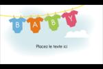 Combinaisons pour bébé Cartes Pour Le Bureau - gabarit prédéfini. <br/>Utilisez notre logiciel Avery Design & Print Online pour personnaliser facilement la conception.